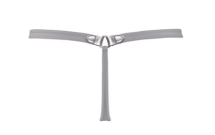 Femme Fatale Silver Metal Thong