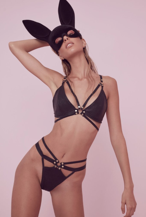 For Love and Lemons Leather Bra