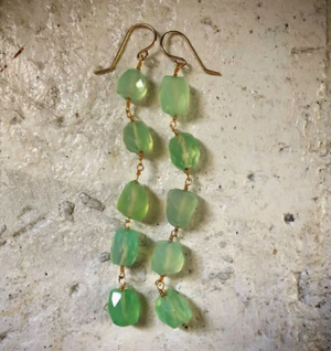 Statement Chalcedony Earring