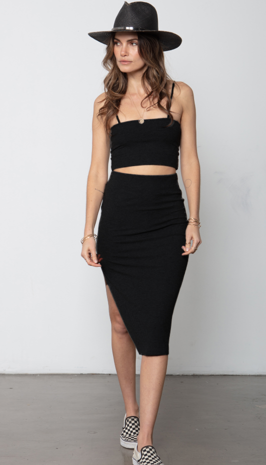 The Edit Rib Skirt