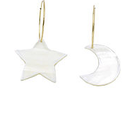 Starry Night Gold Filled Hoops