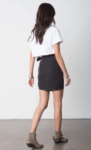 The Side Tie Mini Skirt