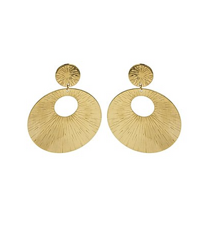 Starburst Gold Earrings