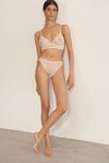 Honeycomb Triangle Soft Bra In Natural