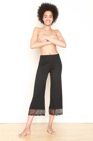 Venice cropped pants in black