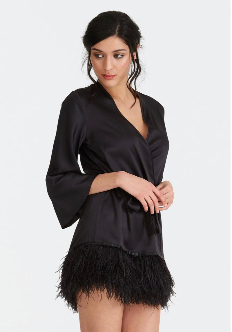 The Swan cover up in black