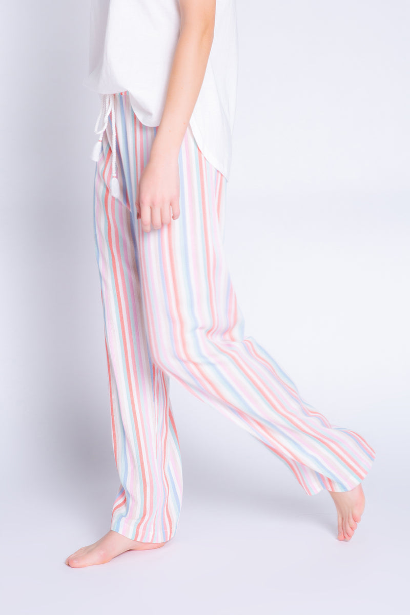 Beach stripe lounge pant