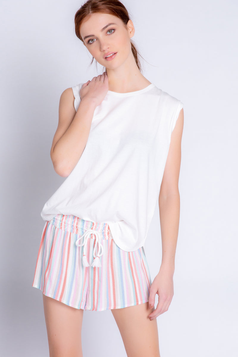 Beach stripe short