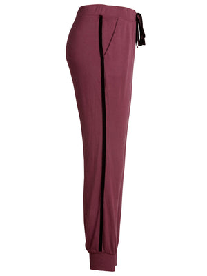 Sabina Pant With Velvet Trim