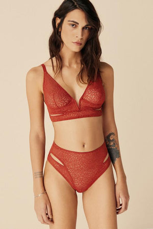 Zoe Soft Cut Out V Bra
