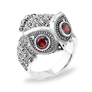 Marasite Owl Ring