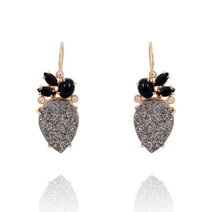 Grey Druzy Earrings