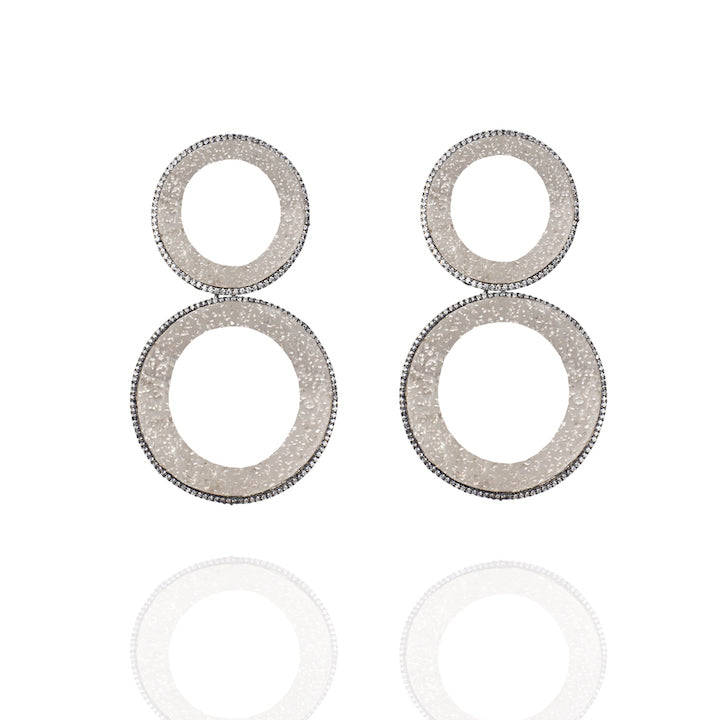 Geometric Pavée Earrings