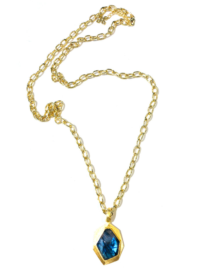 "30"" Gemstone Necklace - London Blue"