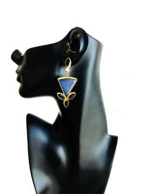 Labradorite Triangle Earring E229