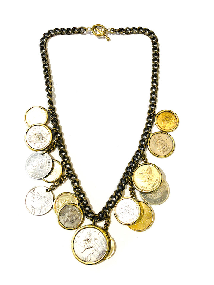 Coin Bib Necklace