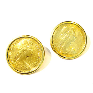 Antique Coin Stud Earrings