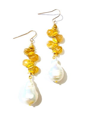 Baroque Pearl Earrings - Color Options