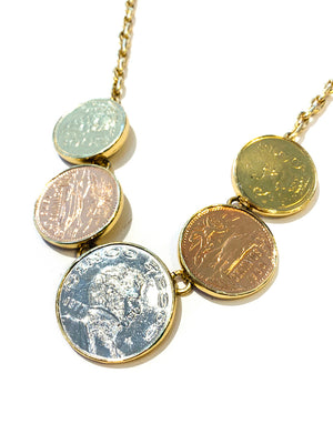 Vintage Mexican Coin Necklace