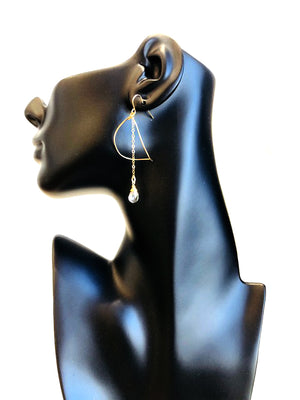 Falling Leaf Earrings - Stone Choices