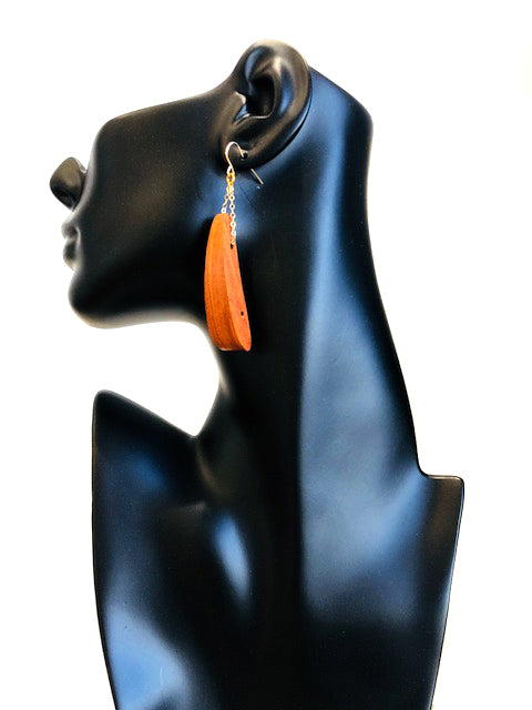 Teak Wood Earrings E133