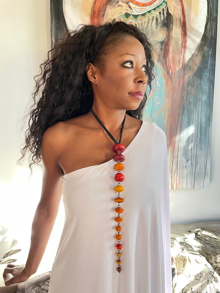 African Amber Statement Necklace