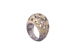 Silver Dust Champagne Dome Ring Size 6
