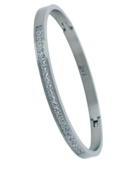 Infinity Bangle with Pavée Crystals