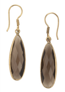 Smoky Topaz Earrings - E197