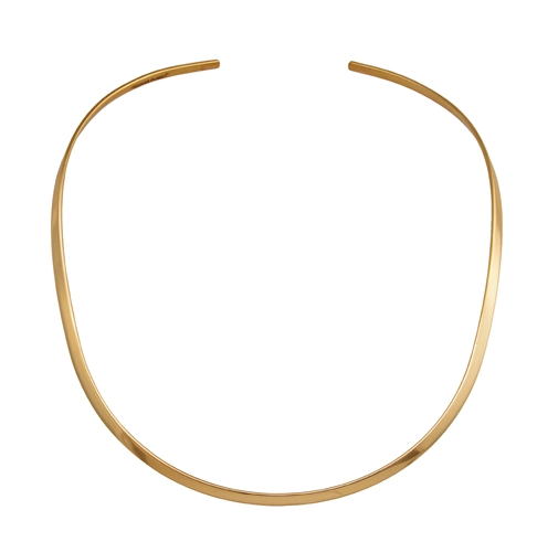 Open Round Neck Bar - Gold