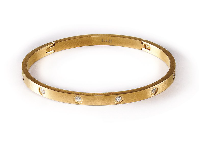 Infinity Bangle With Crystals - Thin