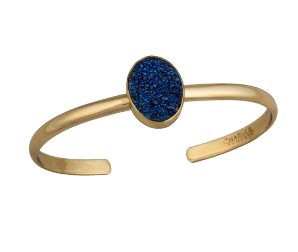 Blue Druzy Mini Cuff - Metal Choices