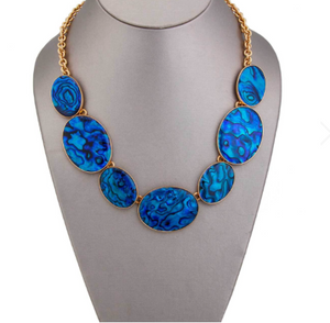 Blue Abalone Necklace