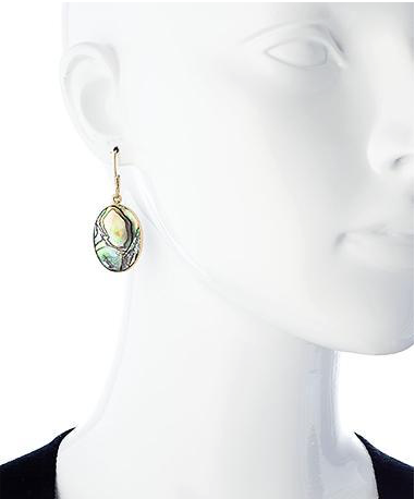 Green Abalone Earrings