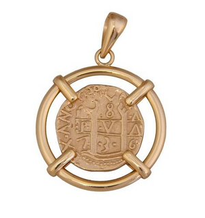 Treasure Coin Pendant - Metal Choices