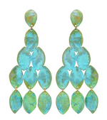 Teal Kiketta Earrings