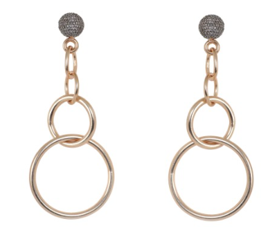 Pavée Circles Earrings