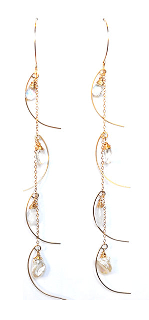 Waterfall Shoulder Duster Earrings