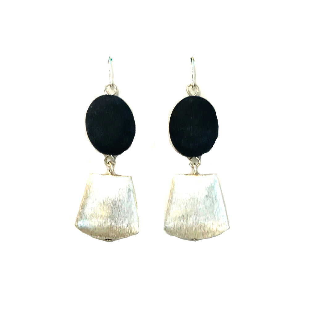 Matte Onyx Earrings E443C