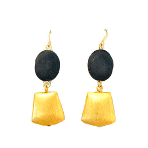 Matte Onyx Earrings E443A