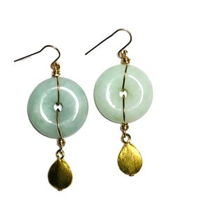 Jade Earrings E709
