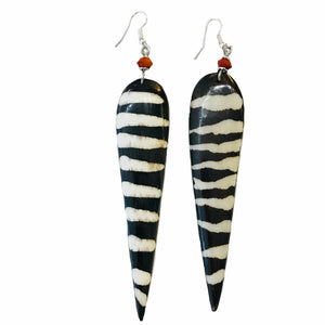 Batik Bone Spike Earrings E73