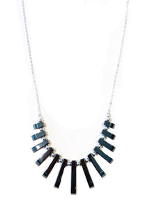 Hematite Necklace Silver N742B