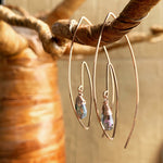 Wire Spiral Hoops - Stone Choices