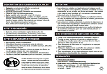 Carte Substances volatiles