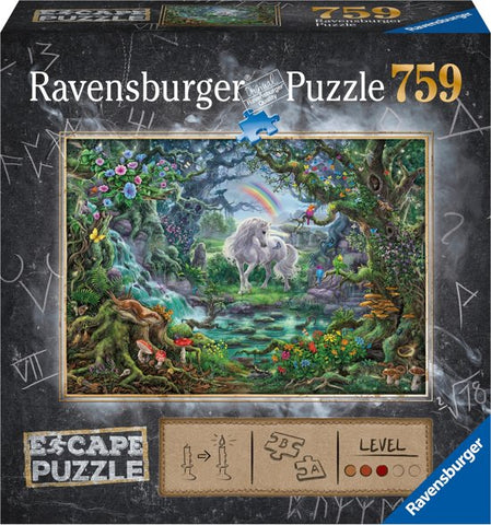 Ravensburger puzzel escape 9 Unicorn: 759st.