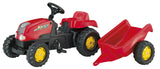 Rolly Kid tractor met trailer - 134 cm