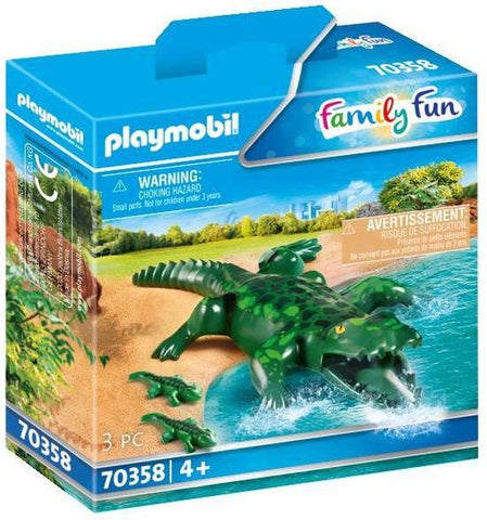 70358 Playmobil Dierenpark Alligator met baby