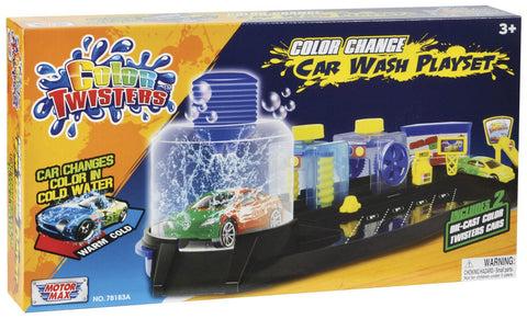 Color Change Car Wash Playset w/ 2 Cars