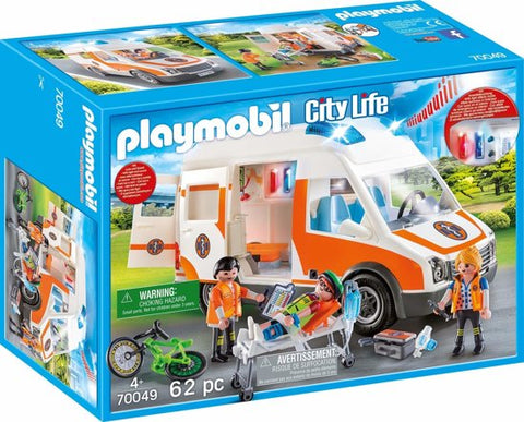 70049 Playmobil Ambulance en ambulanciers